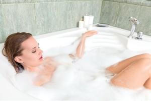 美肌のために半身浴と生姜